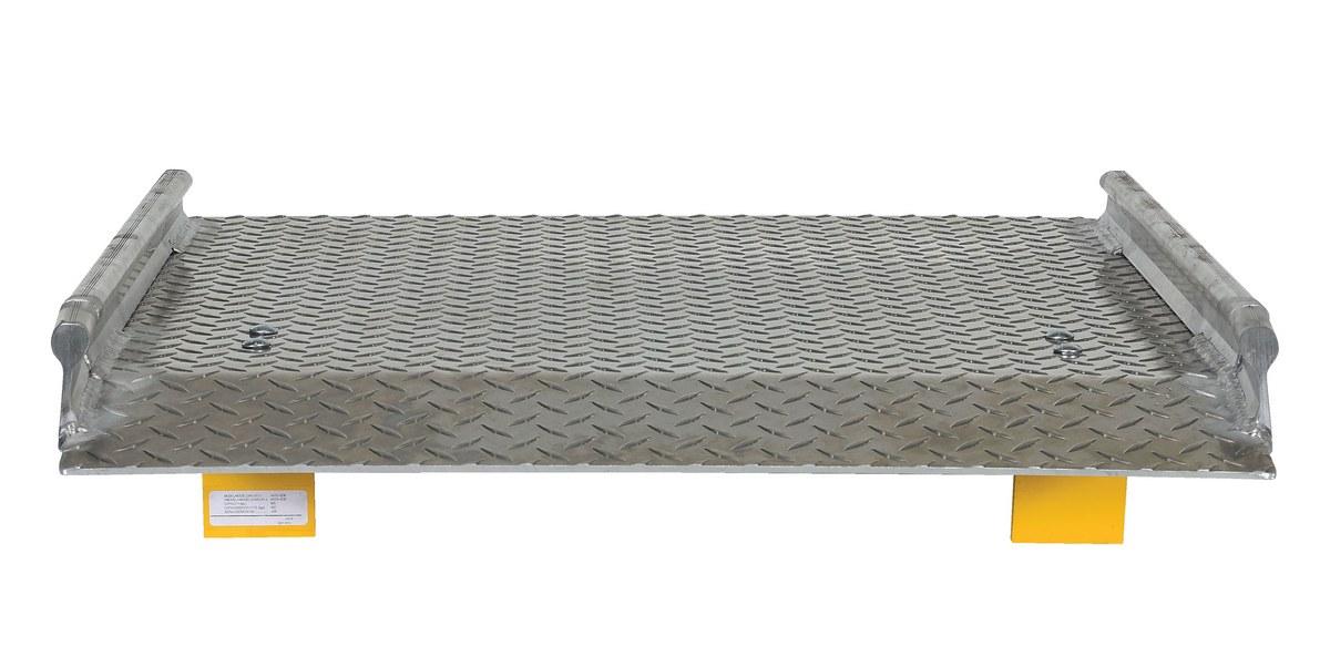 5000 lb Capacity Vestil BTA-05007242 Aluminum Truck Dockboard 72 x 42 Silver