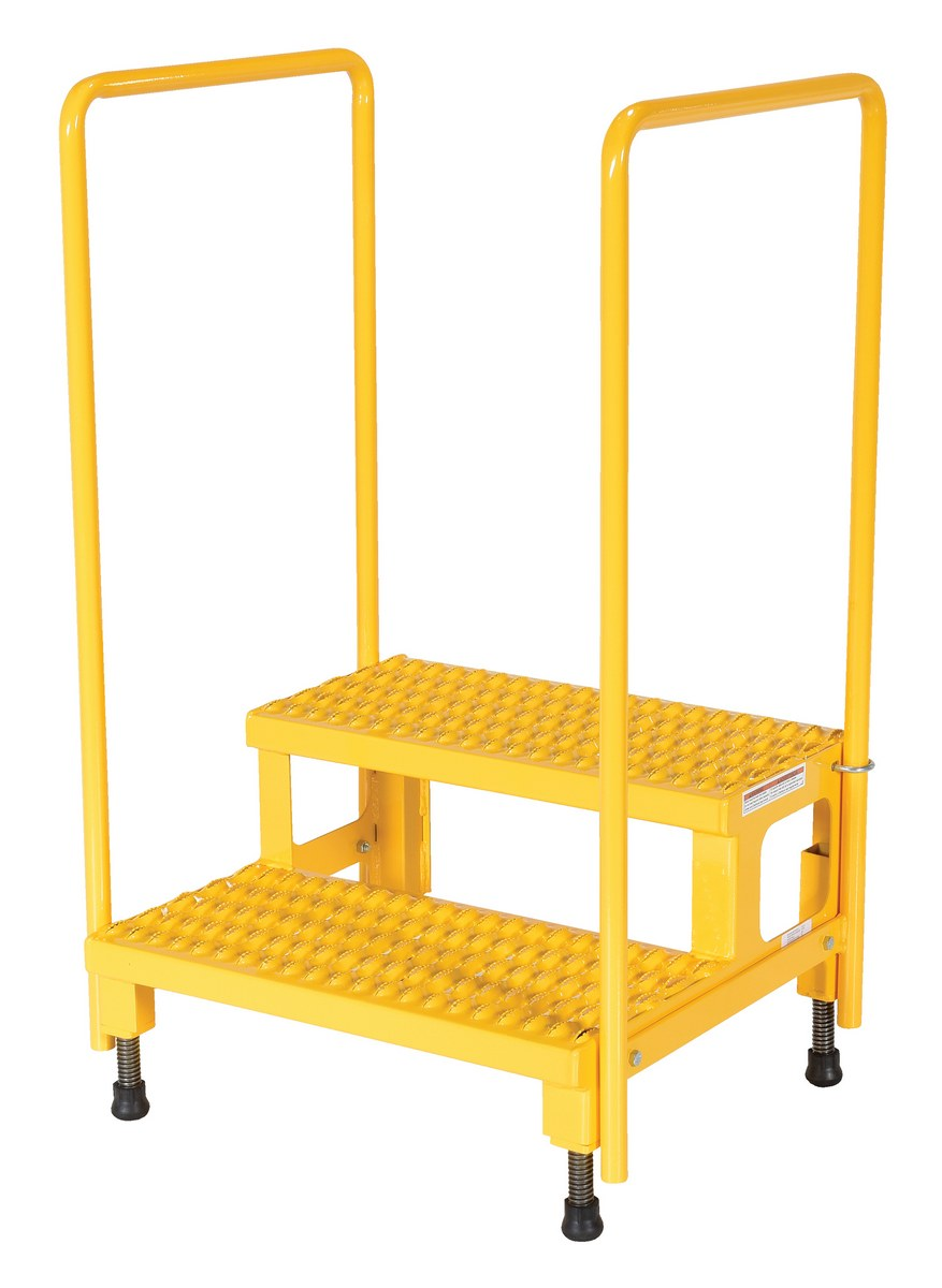 Capacity 6-3//4-8-3//4 Height Vestil AHT-L-2496 Steel Adjustable Work-Mate Stand with Ergo Matting Deck 96 Length x 24 Width Deck 500-lb