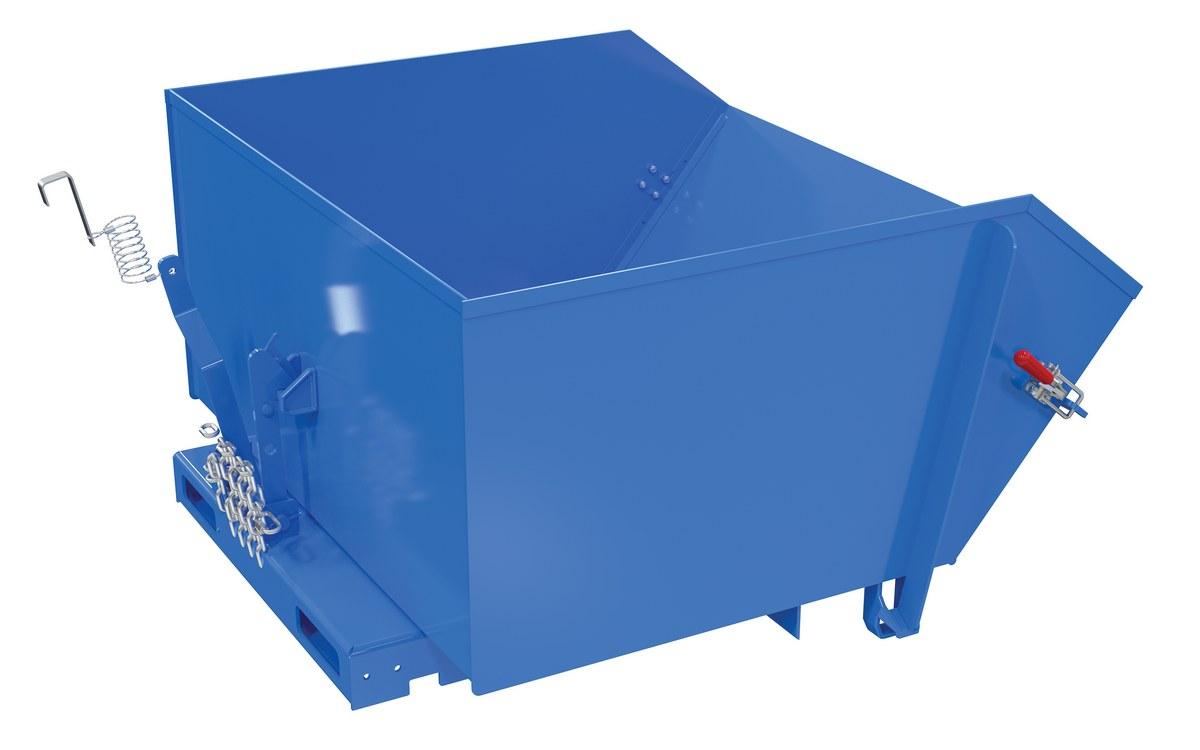 Vestil H-150-MD-GRN-T Self Dumping Hopper MD yd 51.8125 Length 48.875 Width Capacity 1.5 cu 4000 lb 40.25 Height