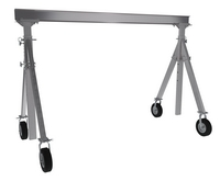 Adjustable Height Aluminum Gantry Cranes with Pneumatic Casters