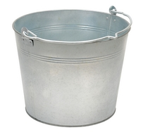 Galvanized, Stainless Steel, & Bronze Buckets