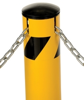 Steel Pipe Bollard with Chain Slots