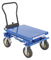 Pneumatic Tire Elevating Carts