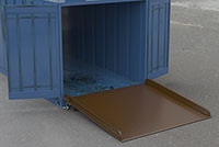 Steel Container Ramps with Side Rails