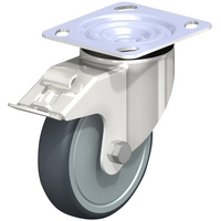 Stainless Steel Thermoplastic Rubber-Elastomer Casters