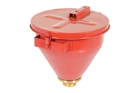 Steel Drum Funnel (with self-closing lid)