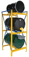 Horizontal Drum Storage Racks