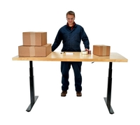 Electric Adjustable-Height Work Benches