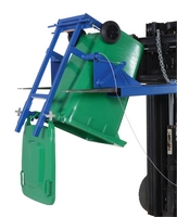 Fork Truck Mounted Trash Can Dumper