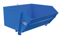 Self-Dumping Steel Hoppers with Fold Down Front