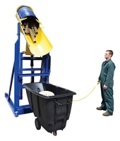 Lift-and-Dump Hydraulic Drum Dumpers