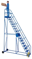 Rolling Warehouse Ladders (12-16 Step)