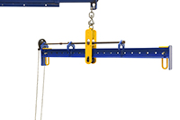 Spreader Beam With Adjustable Hand Chain Crank Bail