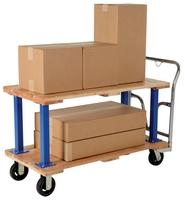 Double & Triple Decker Hardwood Platform Carts