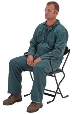Vestil Ergonomic Folding Arm Chairs