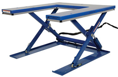 Vestil Low Profile Quot U Quot Type Electric Lift Tables