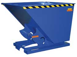 By investing in self dumping hoppers it is possible to ensure that materials are properly stored and if necessary, disposed of in a safe and simple manner.