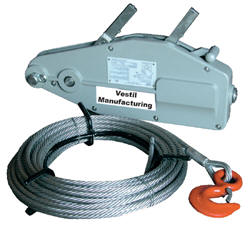 Cable Winch Puller Manual http://www.vestilmfg.com/products/mhequip/cable_pullers.htm