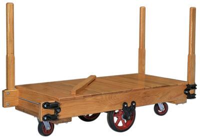 "74dd4119e33 Tilt-type wood platform trucks make it easy to transport your material  handling products. Sanded and varnished deck of 1"" select hardwood on  1-1 2""x6"" side ..."