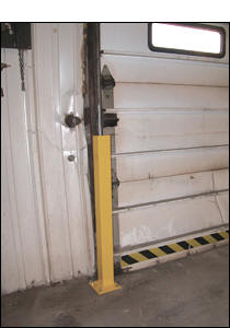 ... of overhead doors from fork trucks pallet trucks and other traffic with these solid steel constructed economical Overhead Door Track Protectors. & Vestil - Overhead Door Track Protectors