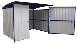 MDS-96-DR Storage building with doors one door is 72\