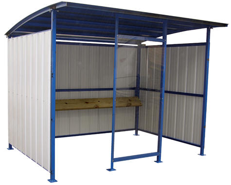 MDS-96-SM Smokers shelter includes clear front panel measuring 38\